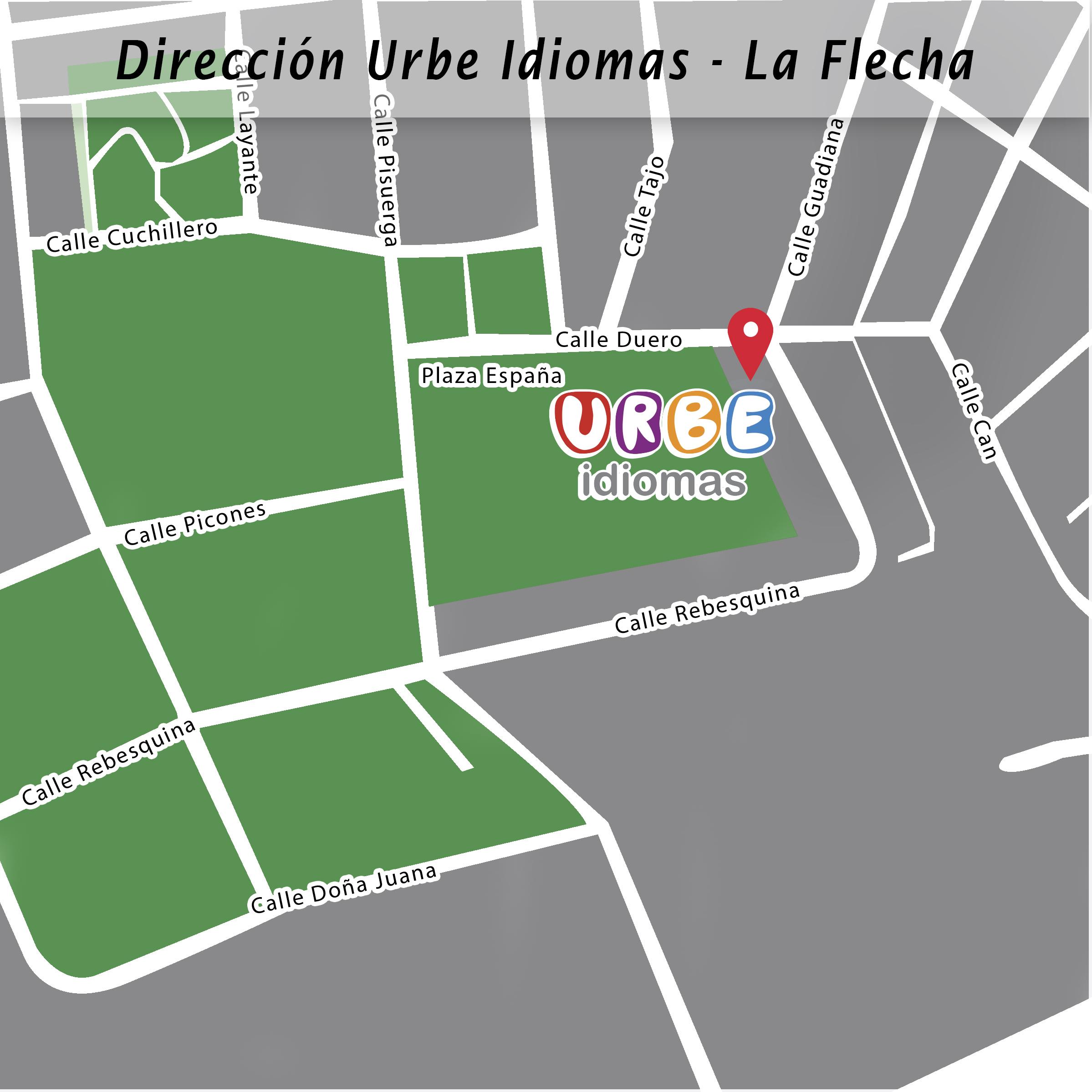 Dirección Urbe Idiomas - La Flecha